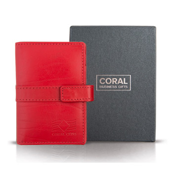 Nopirkt Business card holder leather red
