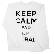 Sweatshirt Keep Calm white