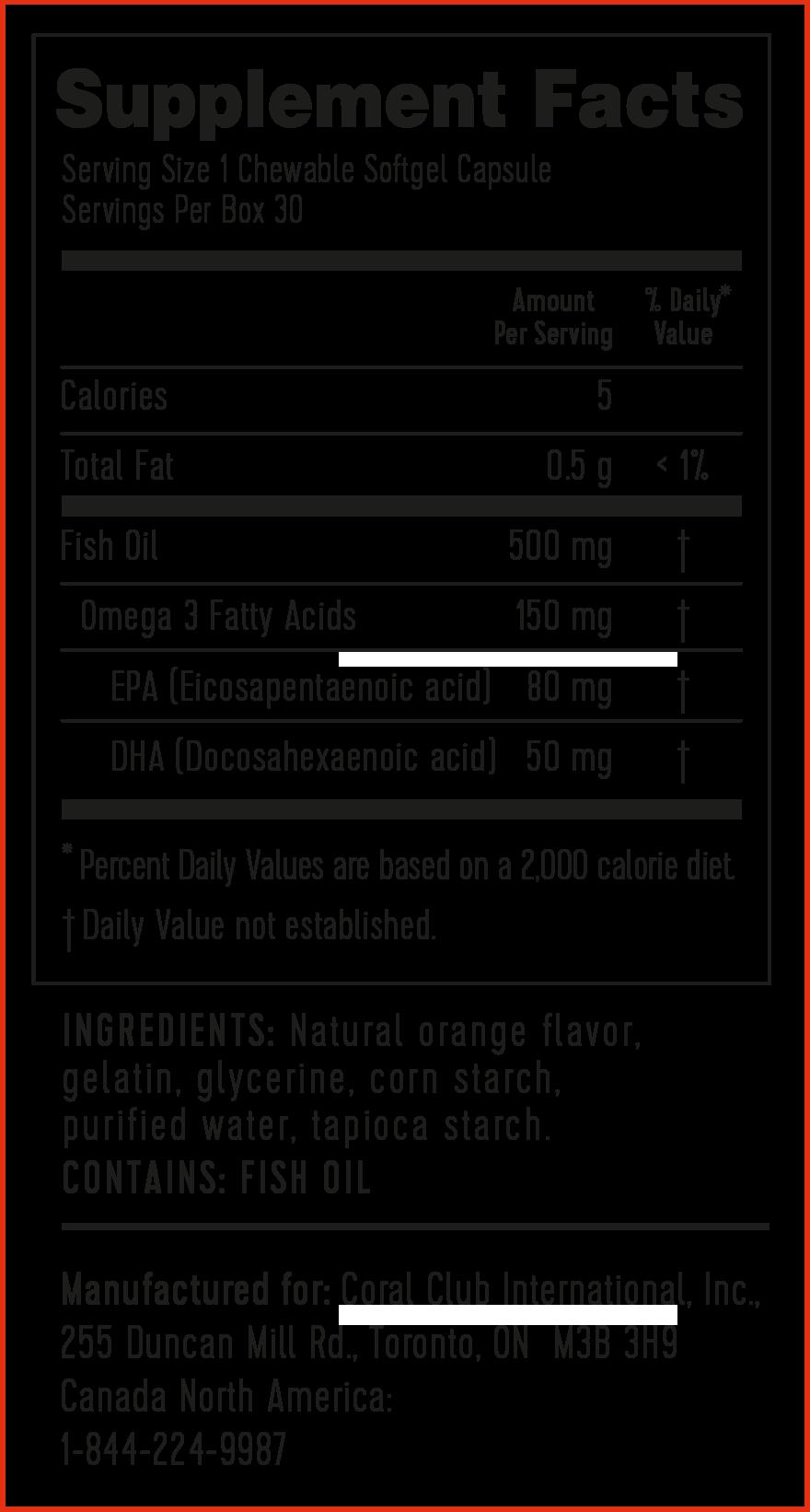 Pirkt Omega 3 apelsīna.Sastāvs