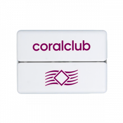 GoBox mini ar violeto Coral Club logo