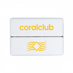 GoBox mini ar dzelteno Coral Club logo