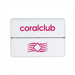 GoBox mini ar sarkano Coral Club logo